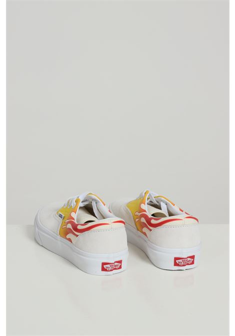 White sneakers with flame print, closure with laces. Baby model. Vans VANS | Sneakers | VN0A4BV42231TRUE WHIT/CLASS