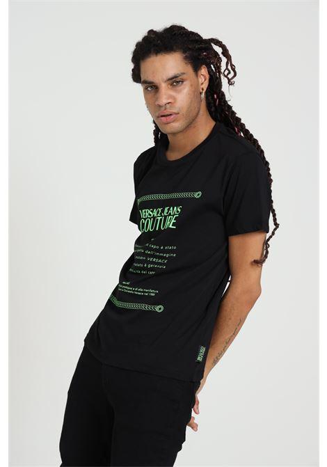 T-shirt Con Stampa B3gza7te30319 VERSACE JEANS COUTURE   T-shirt   B3GZA7TE30319KI8