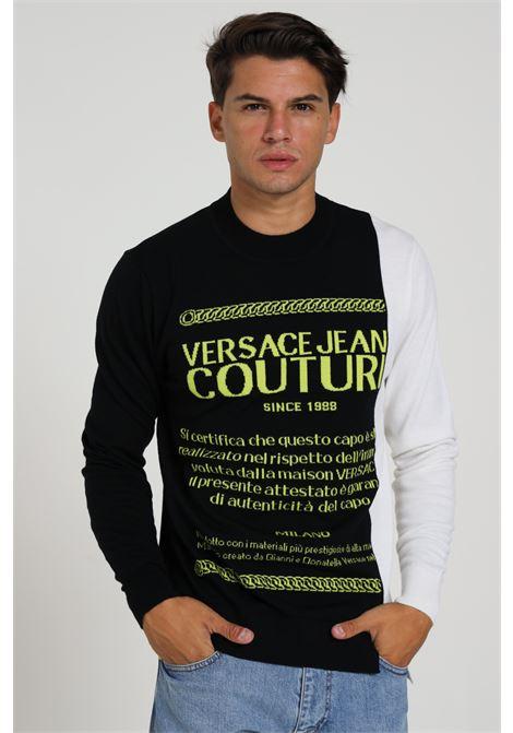 Maglioncino bicolore Versace Jeans Couture VERSACE JEANS COUTURE | Maglieria | B5GZA81450465KK6