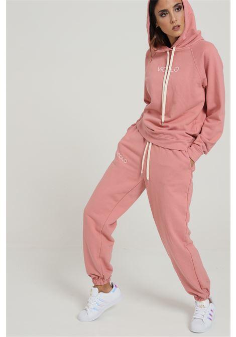Pantalone Con Molla In Vita E Elastico Sul Fondo VICOLO   Pantaloni   RW0043ROSA