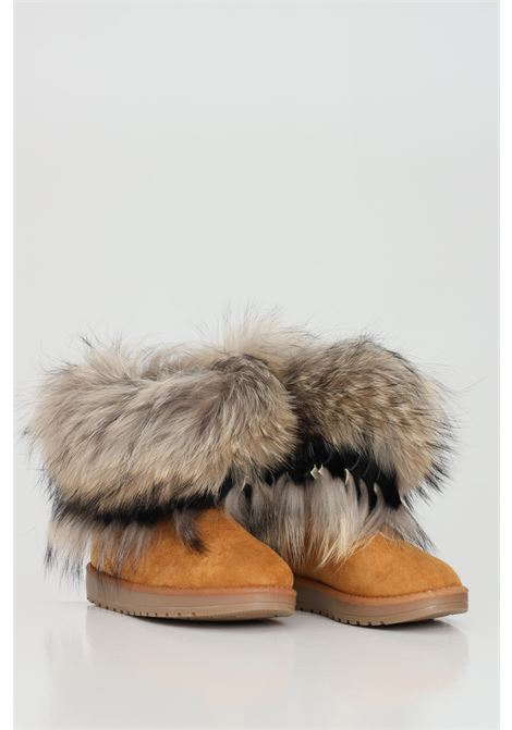 Indian boot in camel fur  YES LONDON | Ankle boots | ST-507CAMEL