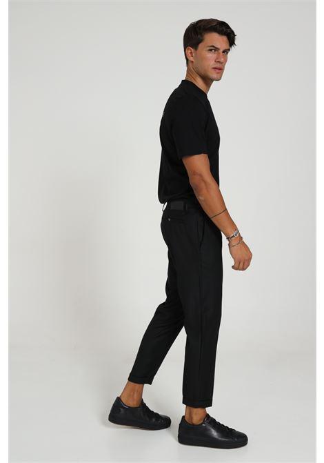 Pantalone Con Molla In Vita Yes London YES LONDON | Pantaloni | XP2846NERO