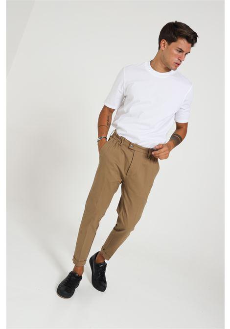 Pantalone con molla in vita YES LONDON | Pantaloni | XP2848TABACCO