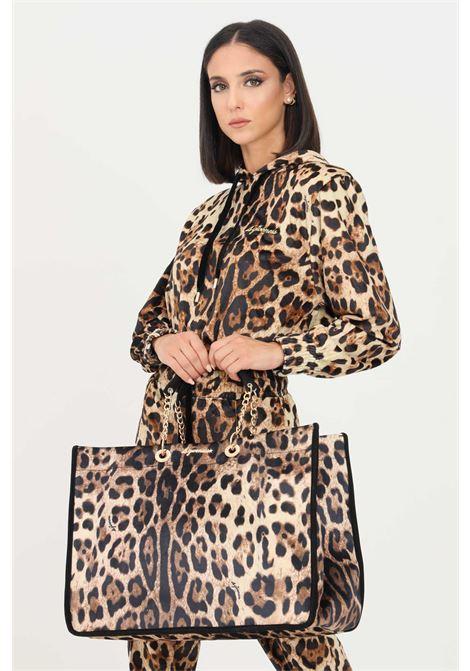 Borsa donna maculato 4giveness modello shopper con manici in catena e tessuto 4GIVENESS | Borse | FGAW1162200