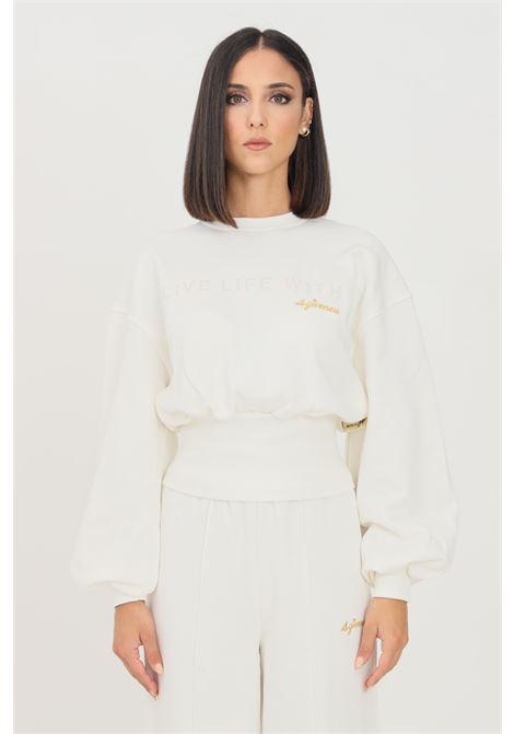 White women's sweatshirt by 4giveness crew neck model 4GIVENESS | Sweatshirt | FGFW1142001