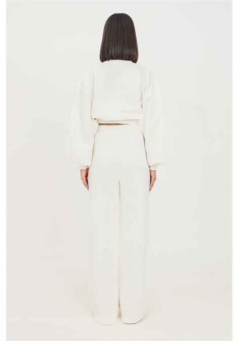 White women's trousers by 4giveness casual model with wide bottom 4GIVENESS | Pants | FGFW1148001