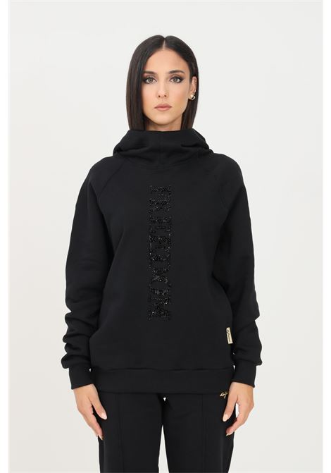 Black women's hoodie by 4giveness with fixed hood 4GIVENESS | Sweatshirt | FGFW1169110