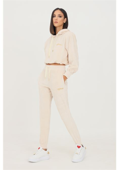 Cream women's trousers by 4giveness causal model with elastic waistband  4GIVENESS | Pants | FGPW1158003