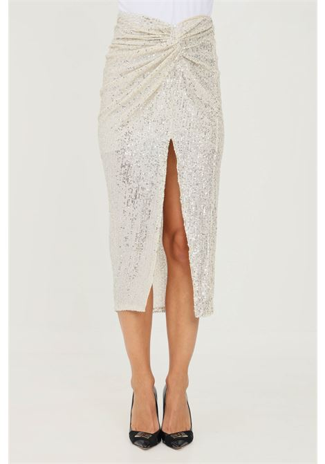 Gold skirt by addicted with sequins, midi cut ADDICTED | Skirt | 3728ORO