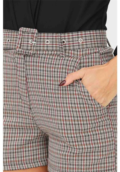 Women's shorts by addicted with geometric texture and waist belt ADDICTED | Shorts | A5810FANTASIA