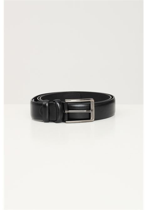 Black men's belt by addicted with silver buckle ADDICTED | Belt | A78335NERO