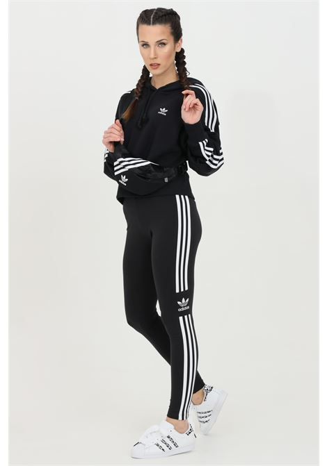 Black women's leggings by adidas with contrasting bands ADIDAS   Leggings   DV2636.