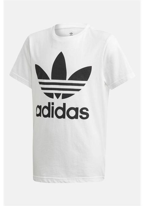 T-shirt bambino unisex bianco adidas con maxi logo frontale ADIDAS | T-shirt | DV2904.