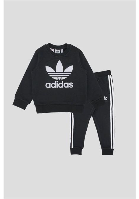 Tuta bambino unisex nero adidas con logo a contrasto ADIDAS | Tute | ED7728.