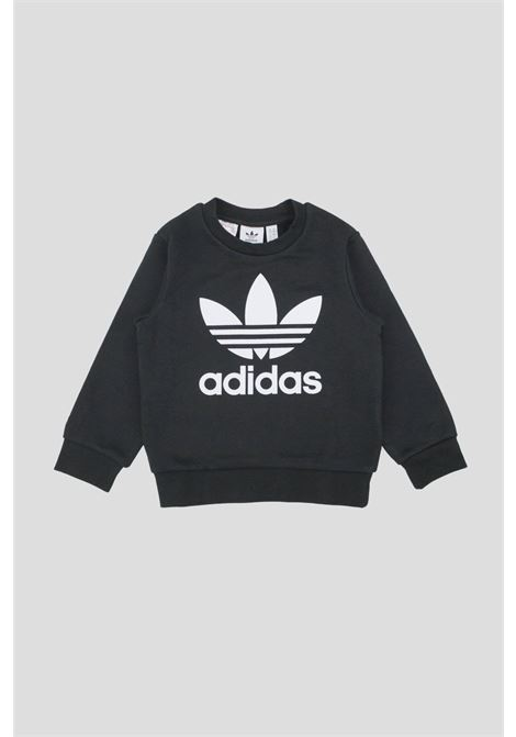 Black baby outfit by adidas with contrasting logo ADIDAS | Suit | ED7728.