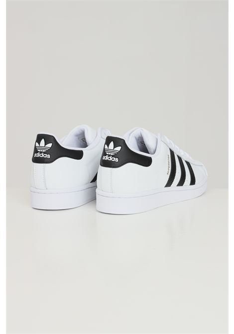White unisex superstar sneakers with side bands by adidas ADIDAS | Sneakers | EG4958.