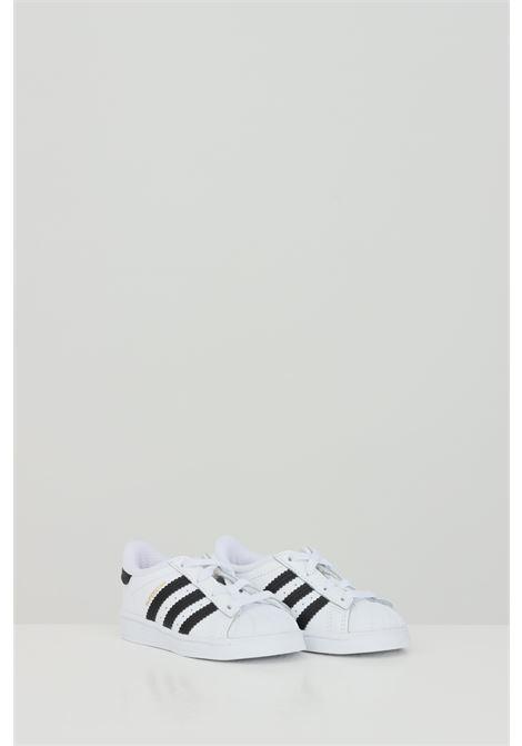 White newborn superstar sneakers adidas  ADIDAS   Sneakers   FU7717.