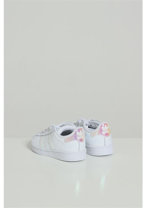 White newborn sneakers with glitter adidas ADIDAS   Sneakers   FV3143.