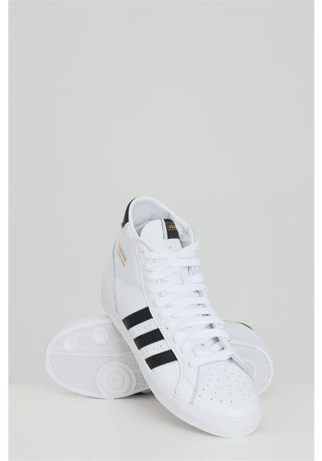 White men's basket profi sneakers adidas  ADIDAS   Sneakers   FW3108.