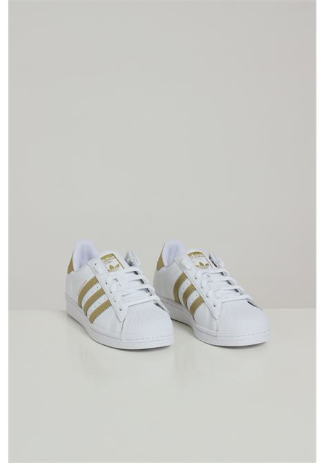 Sneakers superstar donna bianco adidas con inserti oro ADIDAS | Sneakers | FX7483FTWWHTGOLDMT