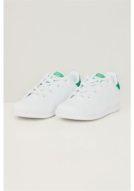 White newborn stan smith sneakers by adidas ADIDAS | Sneakers | FX7528.
