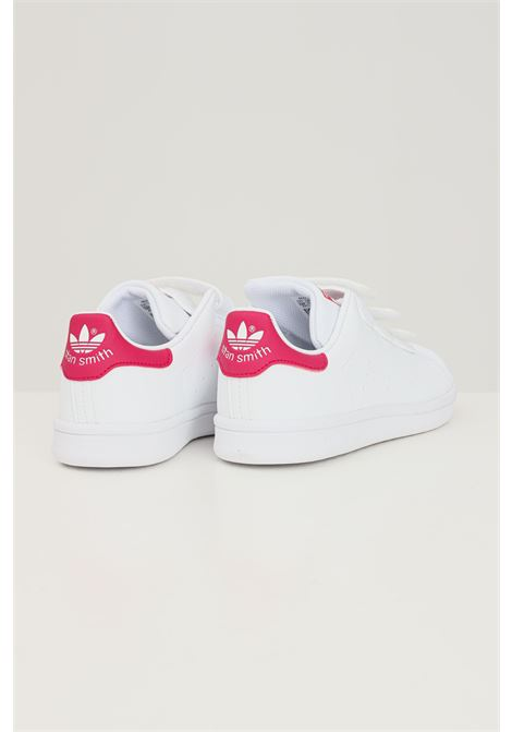 Sneakers stan smith cf c bambina bianco adidas chiusura con strappi ADIDAS | Sneakers | FX7540.
