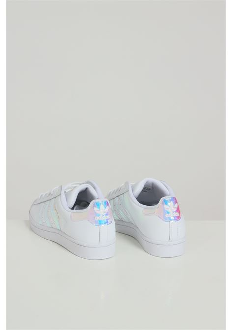 White women's superstar sneakers with laminated inserts adidas  ADIDAS | Sneakers | FX7565FTWHHT/GOLD