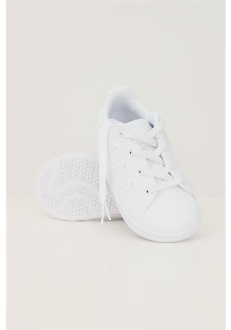 White newborn stan smith el i sneakers by adidas ADIDAS | Sneakers | FY2676.