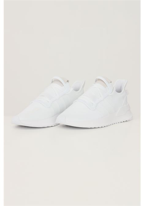 White men's u_path run sneakers by adidas with fabric inserts ADIDAS | Sneakers | G27637.
