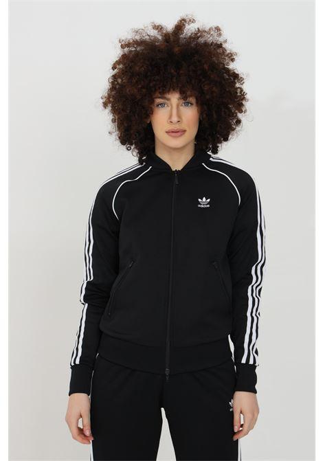 Black women's primeblue sst sweatshirt with zip adidas ADIDAS | Sweatshirt | GD2374.