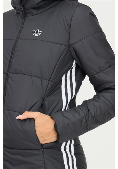 Black women's jacket by adidas with side bands in contrast ADIDAS   Jacket   GD2507.