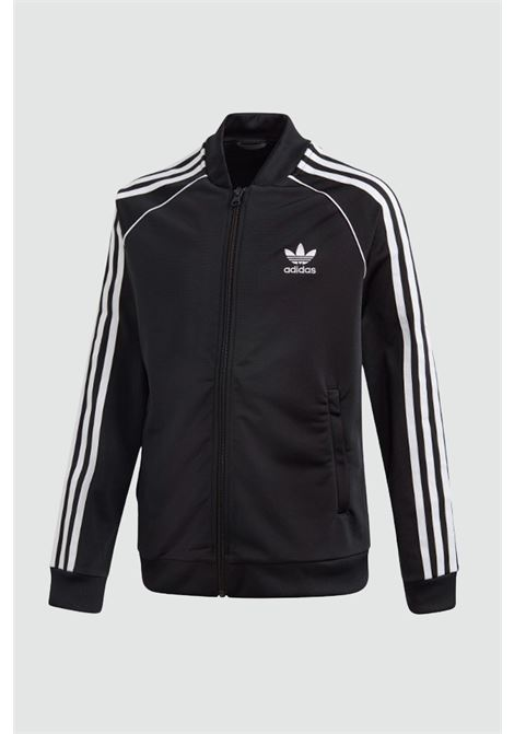Black baby track top sst sweatshirt with zip adidas ADIDAS   Sweatshirt   GE1974..BLACK/WHITE
