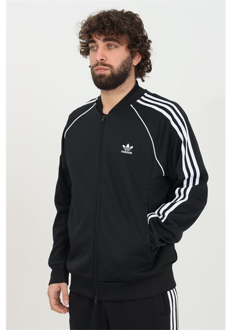 Black adicolor classic primeblue sweatshirt with zip and side bands adidas ADIDAS | Sweatshirt | GF0198.