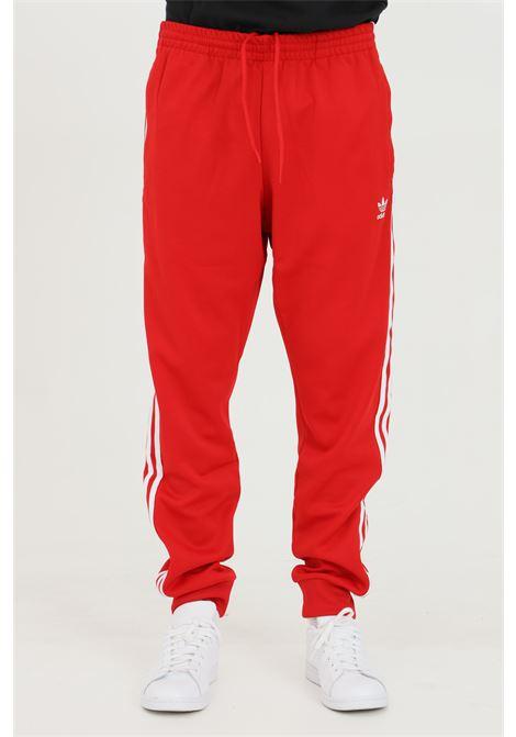 Pantaloni track adicolor classics primeblue uomo rosso adidas sport ADIDAS | Pantaloni | GF0208.
