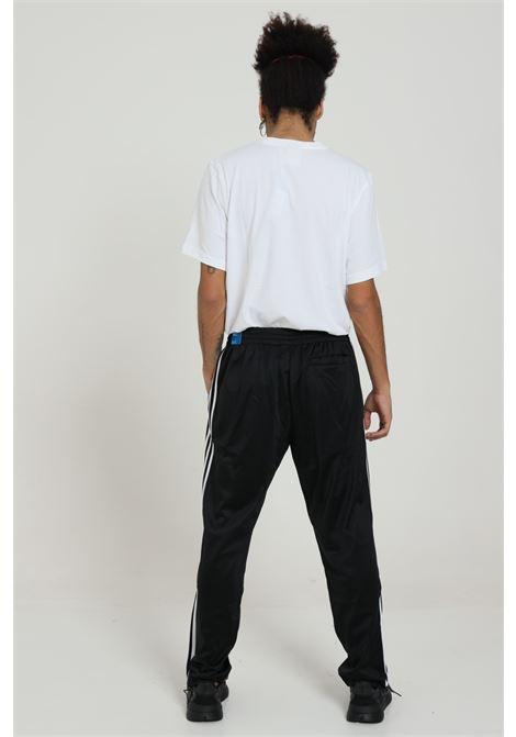 Black men's sweatpants with contrasting bands adidas ADIDAS   Pants   GF0215BLACK/WHITE