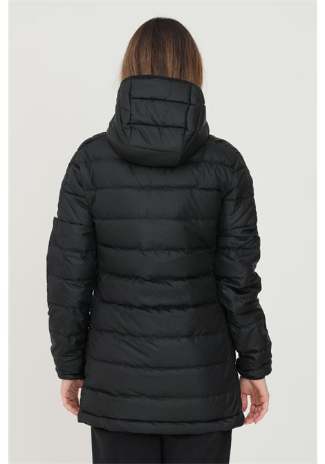 Parka imbottito essentials donna nero adidas con bande a contrasto ADIDAS   Giubbotti   GH4590.