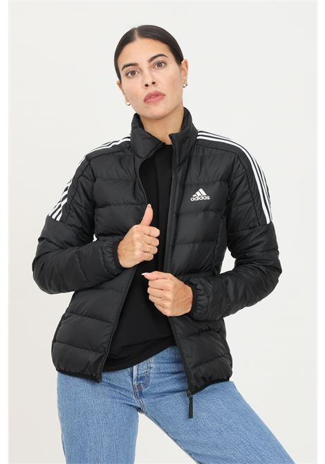 Black women's essentials jacket by adidas with zip on the front ADIDAS   Jacket   GH4593.