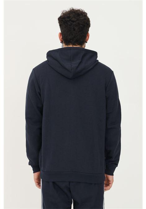 Felpa con cappuccio essentials fleece 3-stripes full-zip uomo blu adidas ADIDAS   Felpe   GK9053.