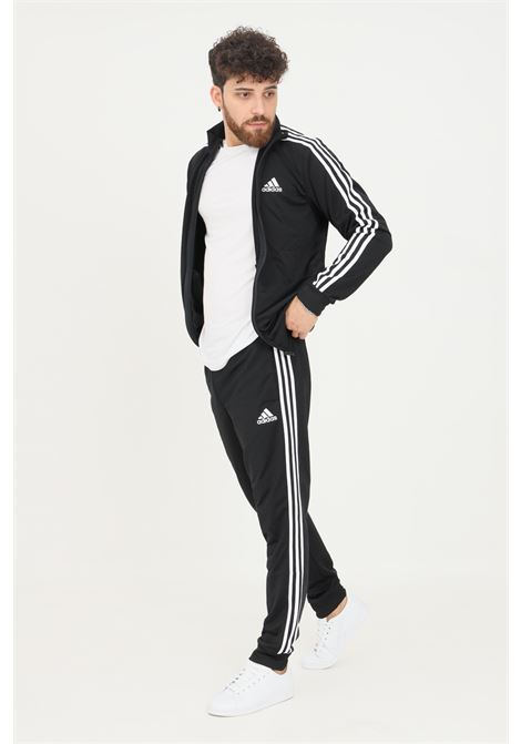 Black men's primegreen essentials 3-stripes suit by adidas ADIDAS   Suit   GK9651.