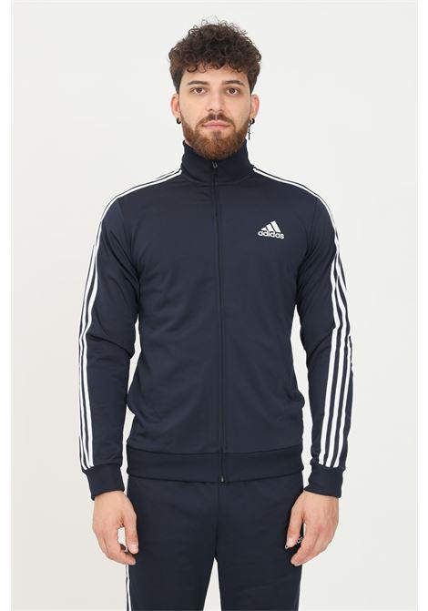 Blue men's primegreen essentials 3-stripes suit by adidas ADIDAS   Suit   GK9658.