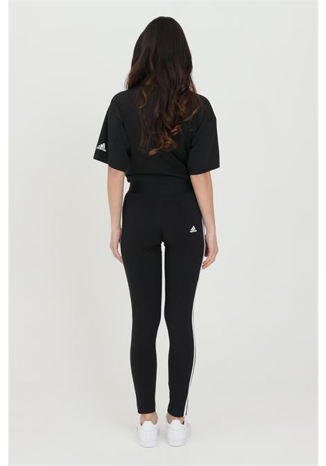 Black women's leggings with side bands in contrast adidas  ADIDAS | Leggings | GL0723.