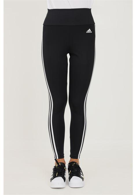 Leggings high rise 3 stripes donna nero adidas ADIDAS   Leggings   GL4040.