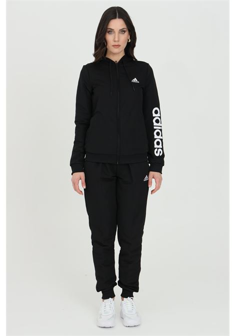 Tuta essentials logo french terry donna nero adidas ADIDAS | Tute | GM5575.