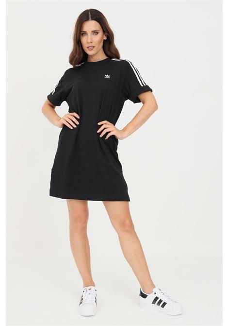 Abito adicolor classics roll-up sleeve tee nero adidas corto con spacchetti ADIDAS | Abiti | GN2777.