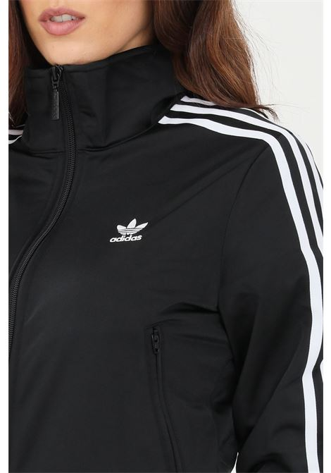Black women's sweatshirt with full lenght zip and side bands adidas  ADIDAS | Sweatshirt | GN2817.