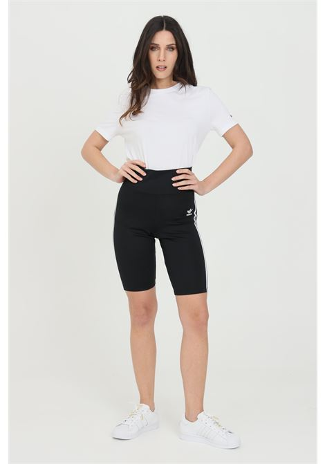 Black women's adicolor classic shorts with contrasting bands adidas ADIDAS | Shorts | GN2842.