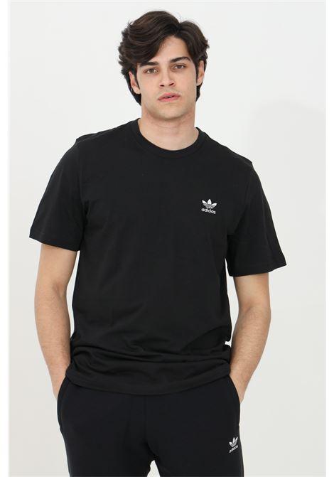 Black men's loungewear adicolor essential trefoil t-shirt short sleeve adidas ADIDAS   T-shirt   GN3416.
