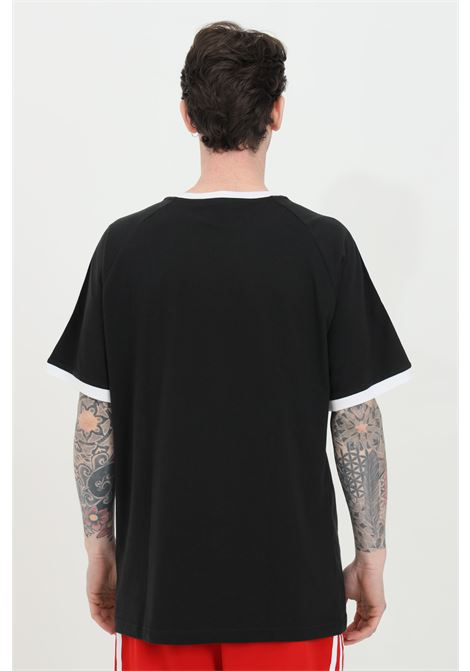 Black men's t-shirt with bands on the shoulders short sleeve adidas ADIDAS   T-shirt   GN3495.