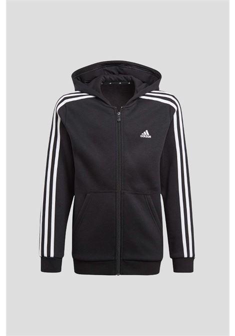 Felpa con cappuccio essentials 3-stripes bambino unisex nero adidas ADIDAS | Felpe | GQ8900.