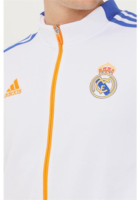 White men's real madrid sweatshirt by adidas with zip ADIDAS | Sweatshirt | GR4270.